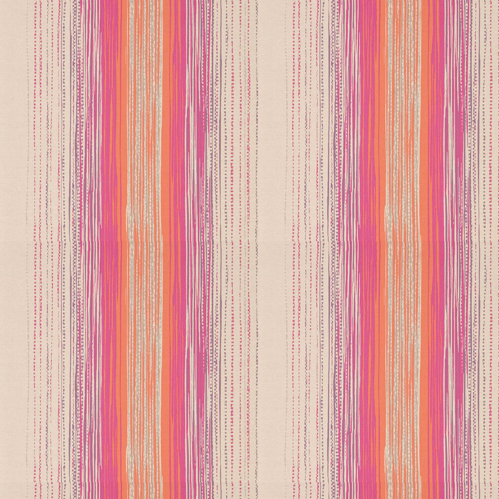 Tilapa  Wallpaper - Fuchsia and Coral - by Harlequin