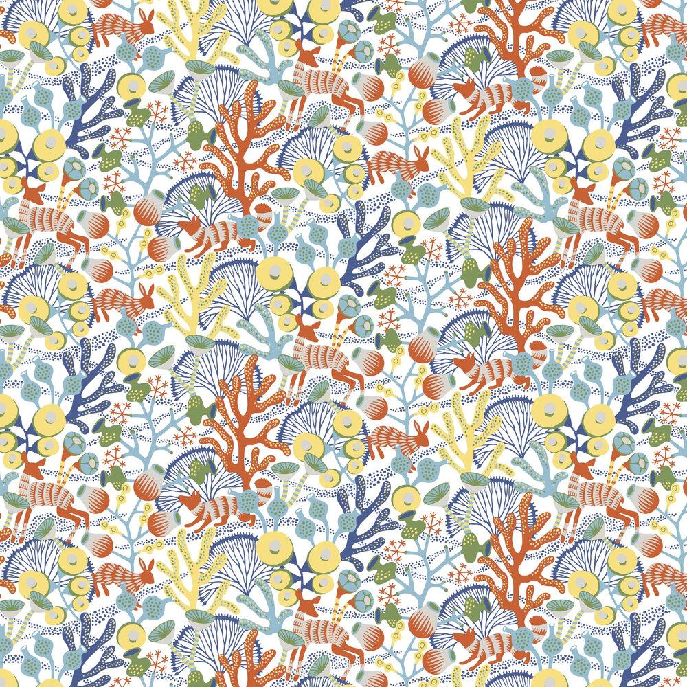 Korallang Wallpaper - White - by Boråstapeter