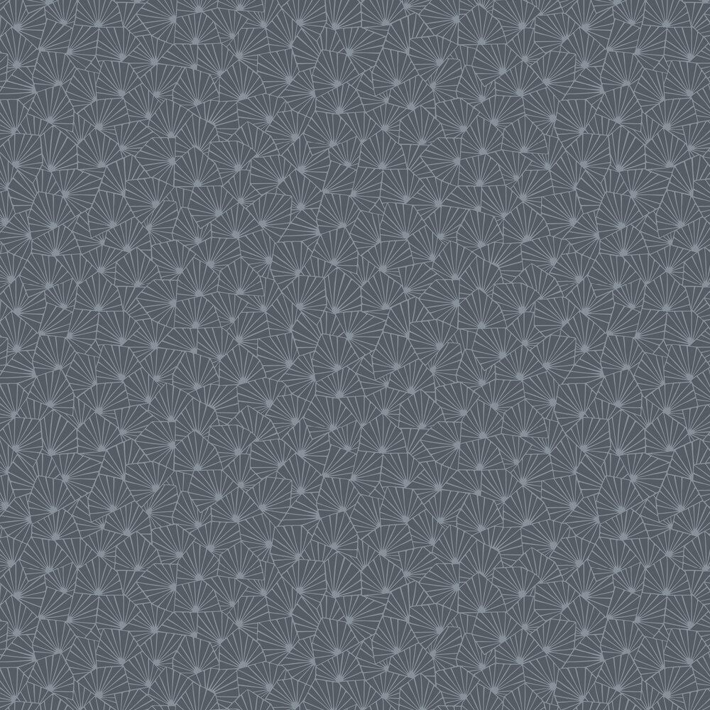 Stjarnflor Wallpaper - Charcoal - by Boråstapeter
