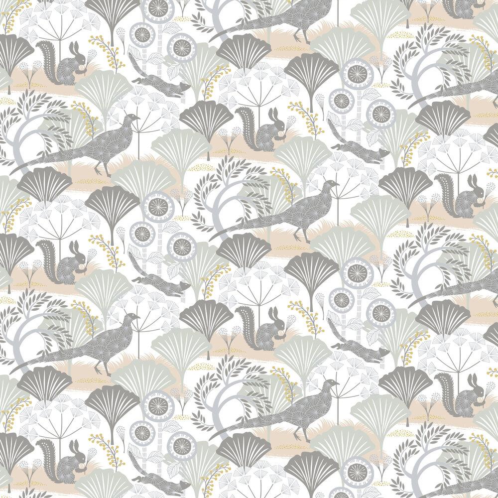 Mardgomma Wallpaper - White - by Boråstapeter