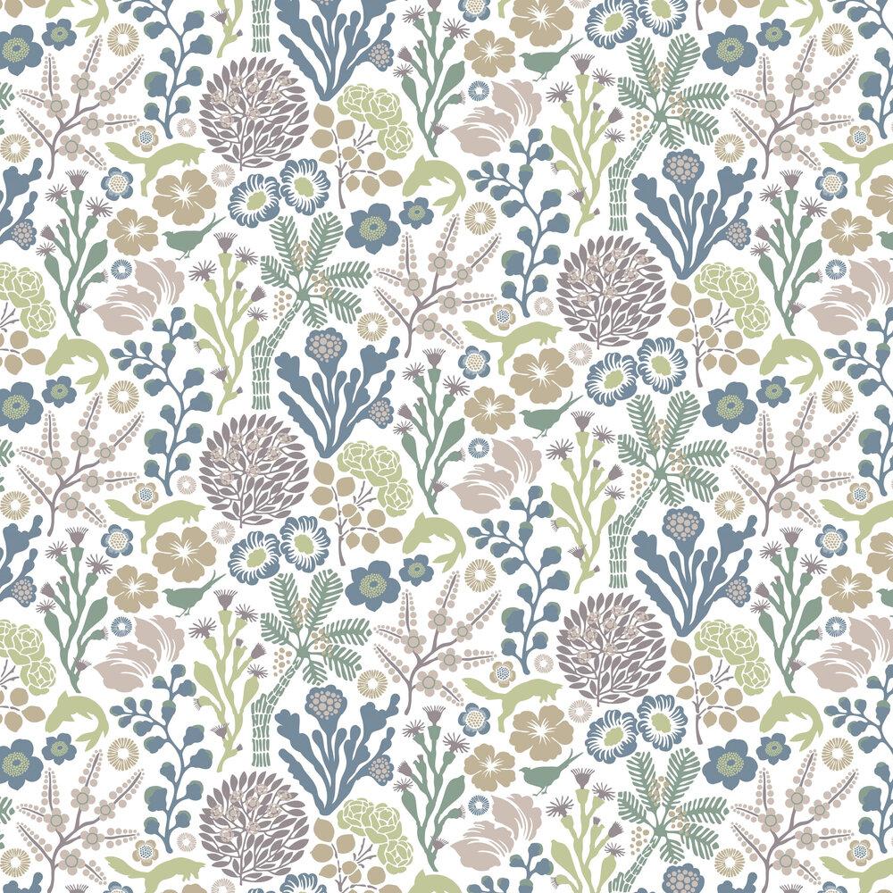 Ravdunge Wallpaper - Green - by Boråstapeter