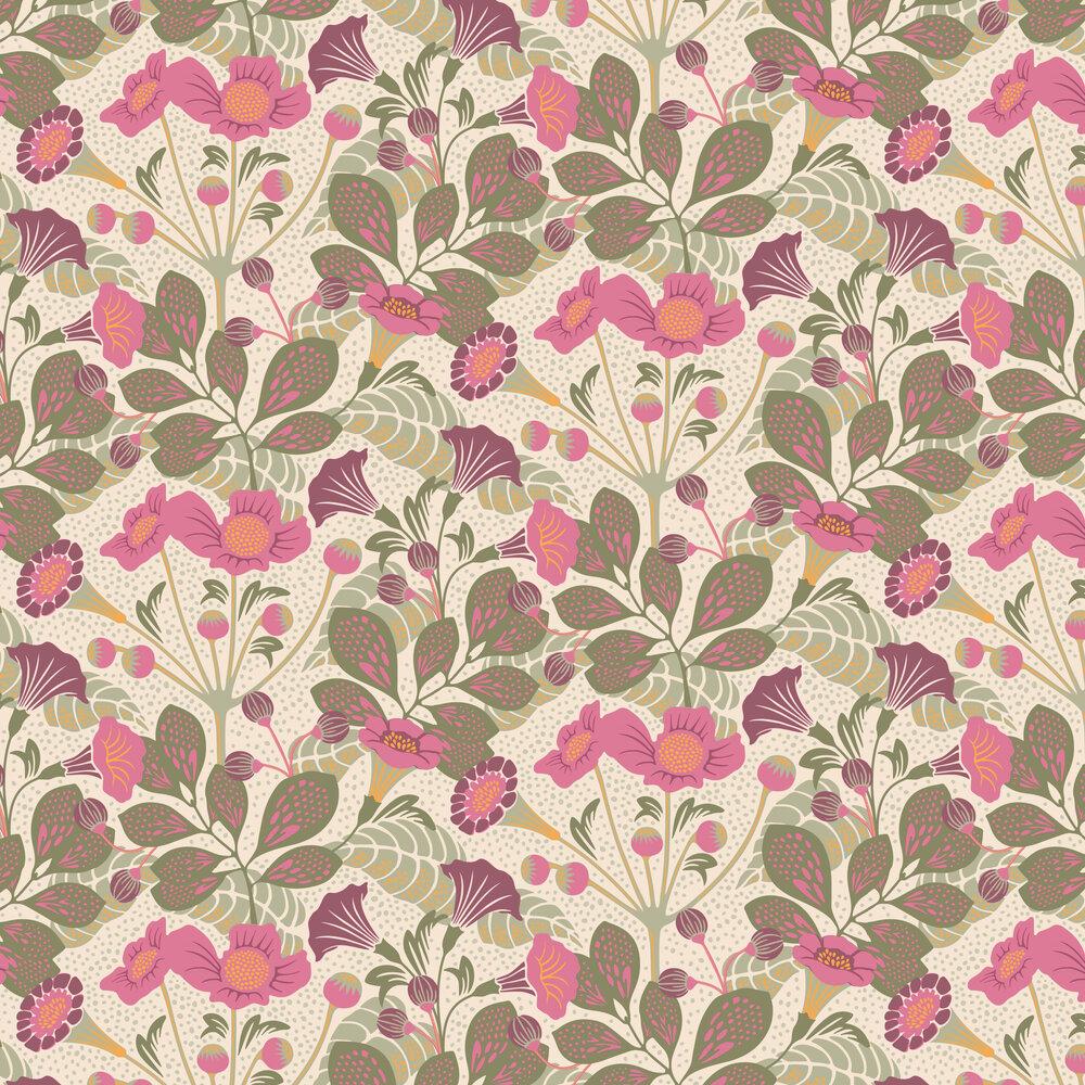 Vildtuta Wallpaper - Pink - by Boråstapeter