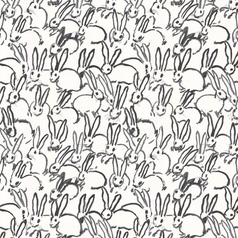 Hunt Slonem Hutch Wallpaper - Black / White - by Lee Jofa