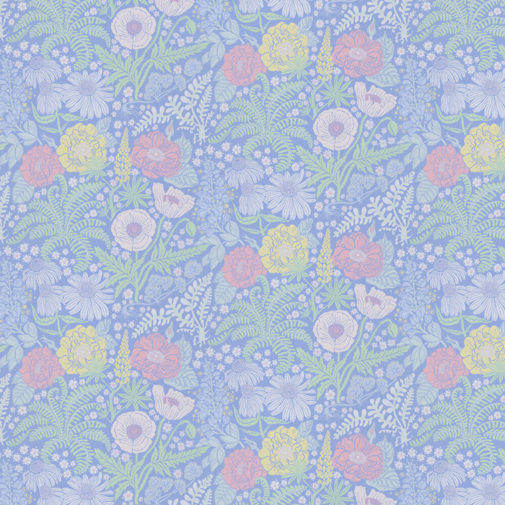 Lisa Wallpaper - Blue - by Sandberg
