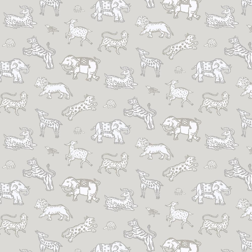 Leonard Wallpaper - Grey - by Sandberg