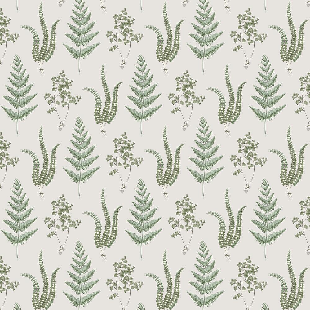 Boråstapeter Herba Green and White Wallpaper - Product code: 4021