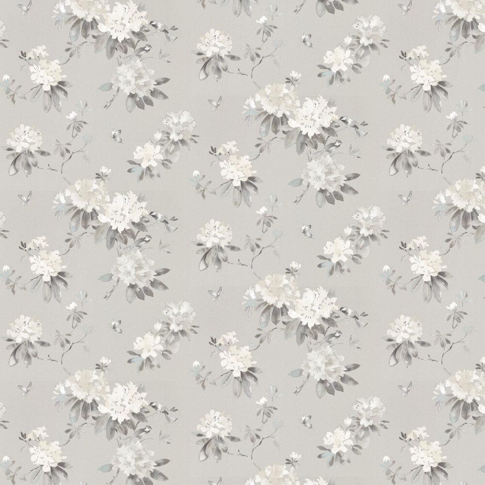 Rhodera Wallpaper - Silver - by Sanderson