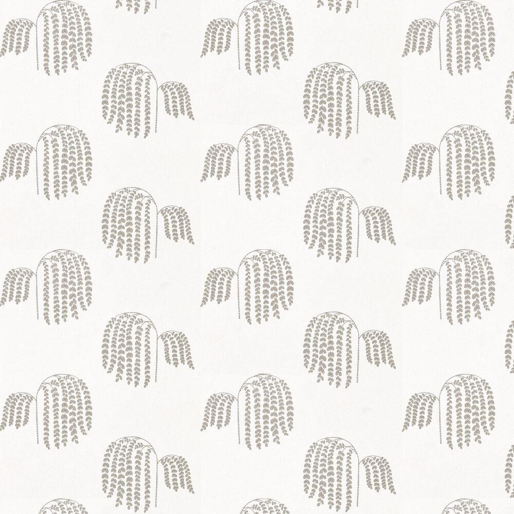 Bay Willow Wallpaper - Silver - by Sanderson