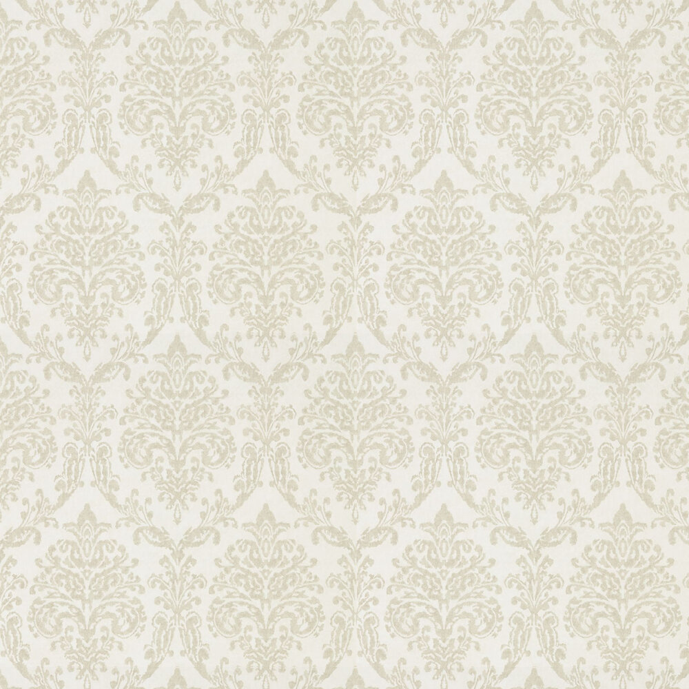 Riverside Damask Wallpaper - Oyster and Pearl - by Sanderson