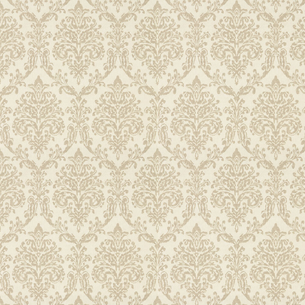 Riverside Damask Wallpaper - Cream and Gold - by Sanderson