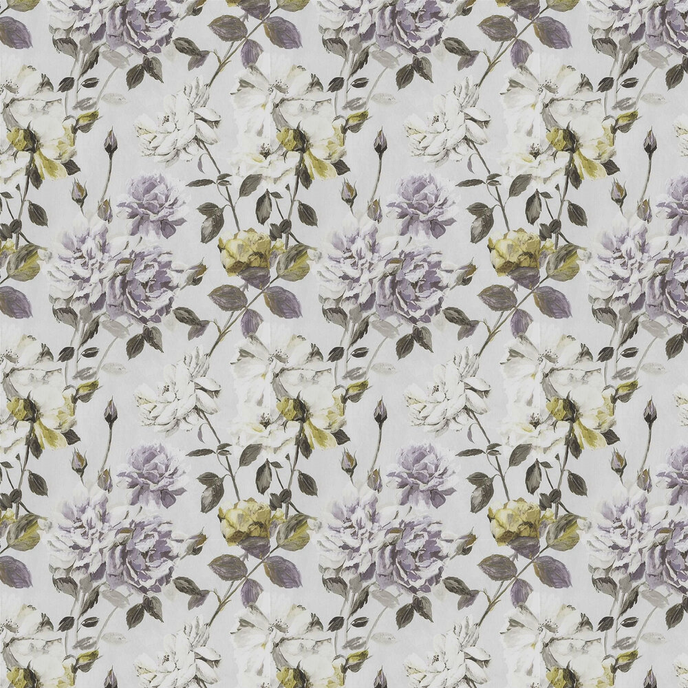 Couture Rose Wallpaper - Mauve - by Designers Guild