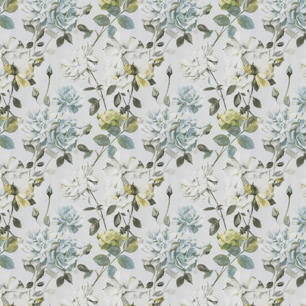 Couture Rose Wallpaper - Duck Egg - by Designers Guild
