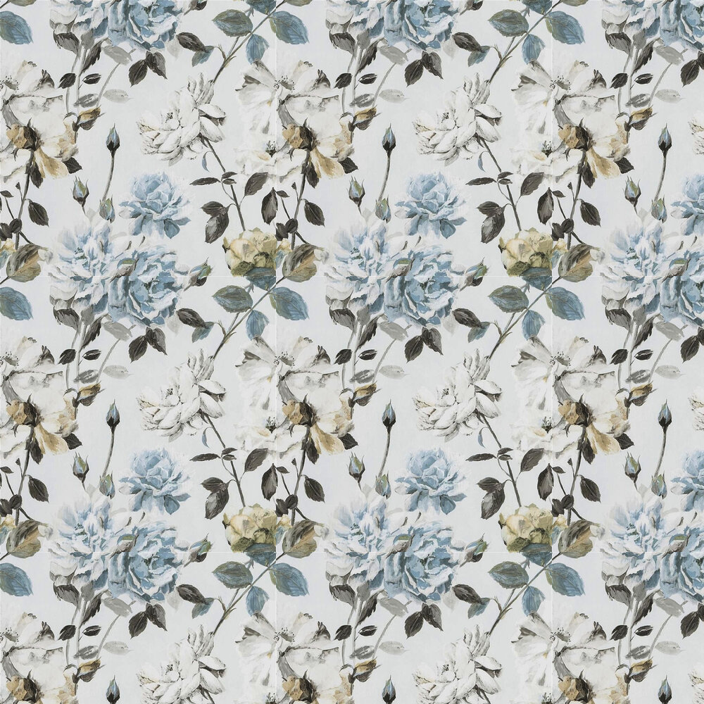 Couture Rose Wallpaper - Graphite - by Designers Guild