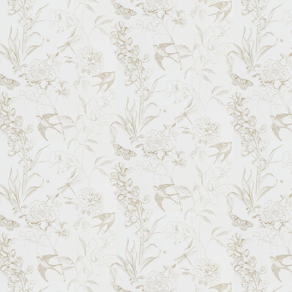 Sibylla Garden Wallpaper - Gold - by Designers Guild