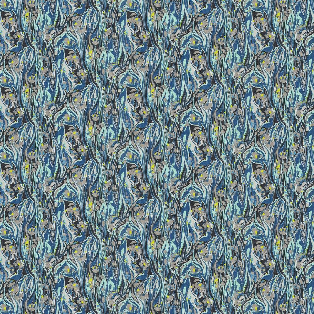 Delahaye Wallpaper - Cobalt - by Designers Guild