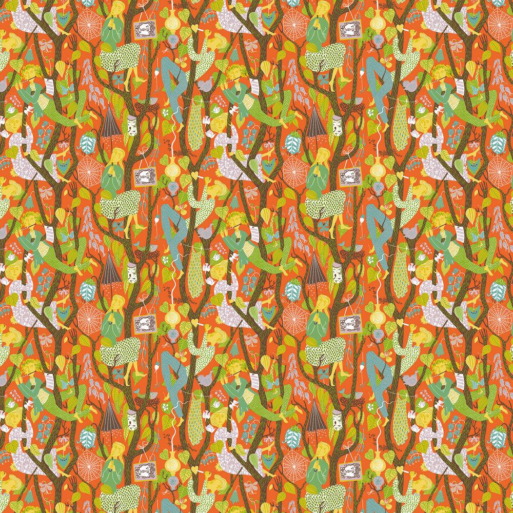 Melodi Wallpaper - Orange - by Boråstapeter