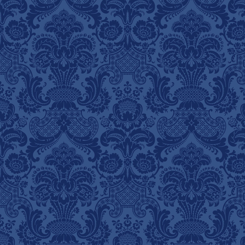 Petrouchka Wallpaper - Blue - by Cole & Son