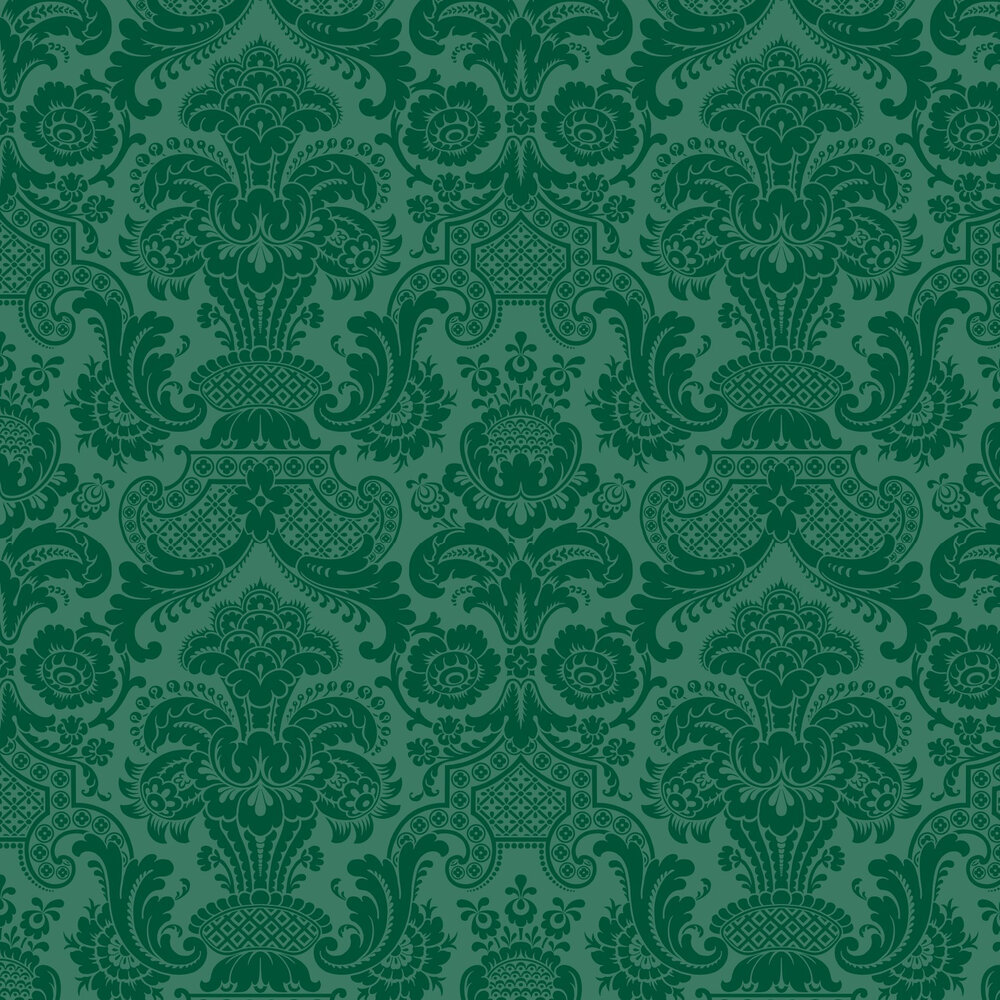 Petrouchka Wallpaper - Green - by Cole & Son