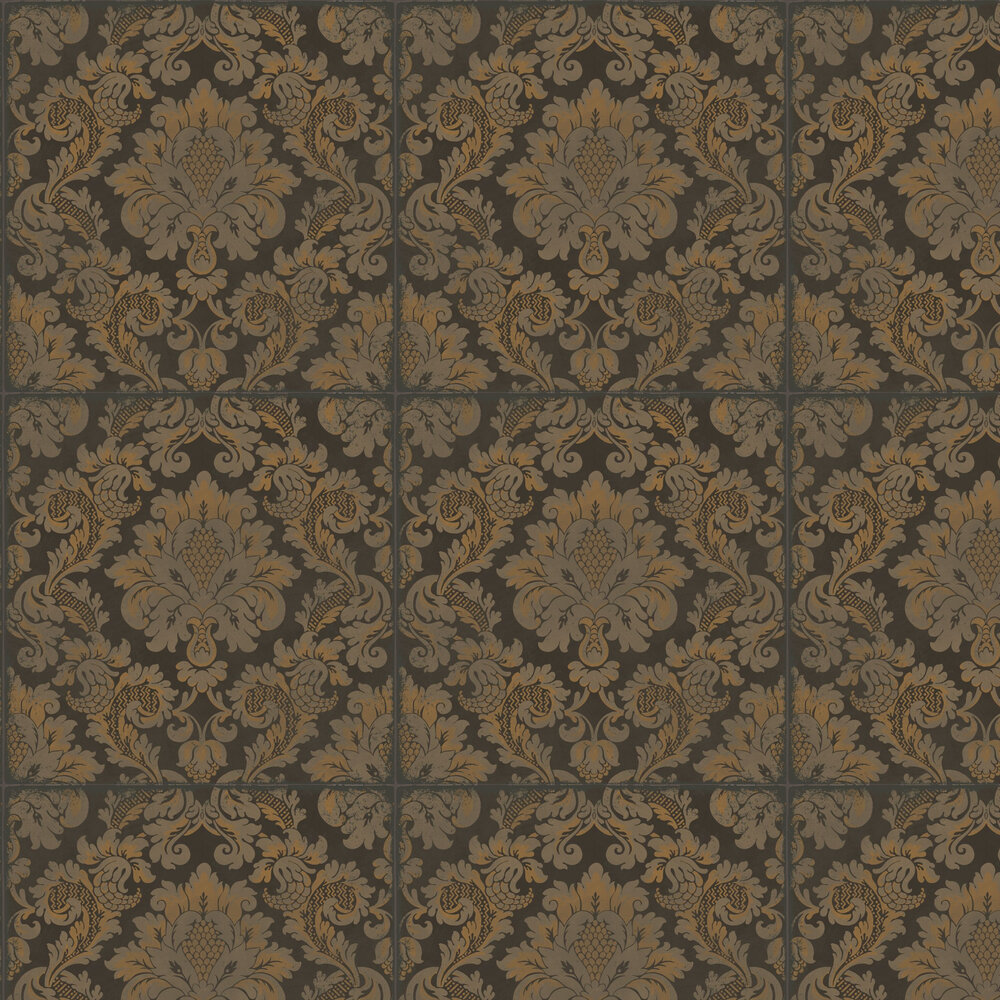 Stravinsky Wallpaper - Charcoal and Bronze - by Cole & Son