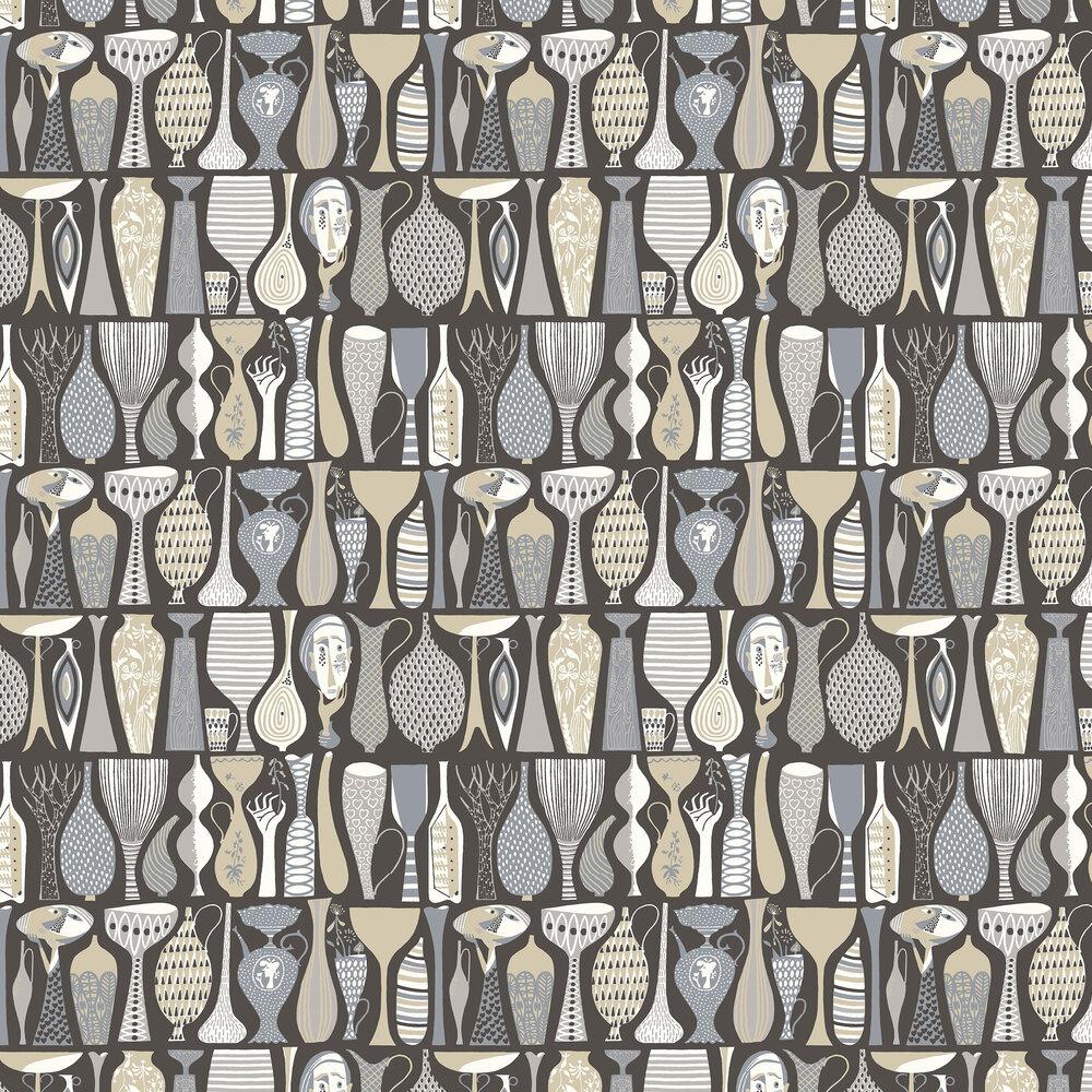 Pottery Wallpaper - Beige - by Boråstapeter