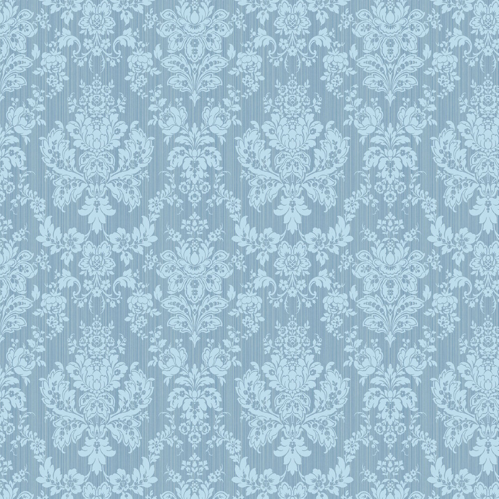 Giselle Wallpaper - Blue - by Cole & Son