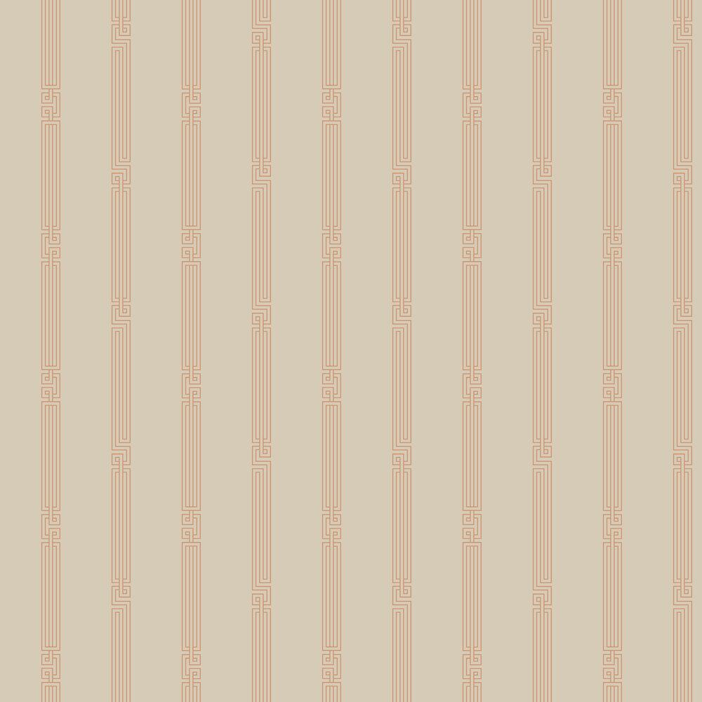 Stripe Wallpaper - Copper - by SketchTwenty 3