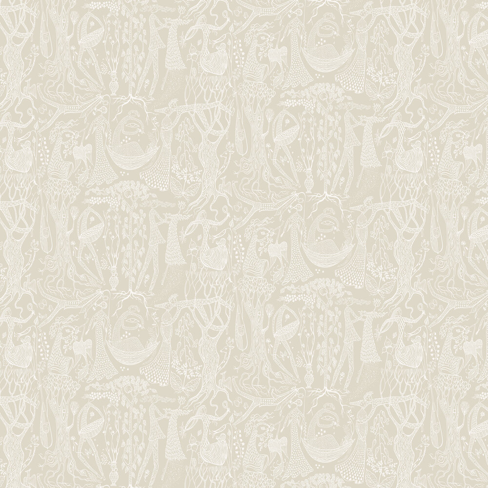Poeme d´amour Wallpaper - Beige - by Boråstapeter