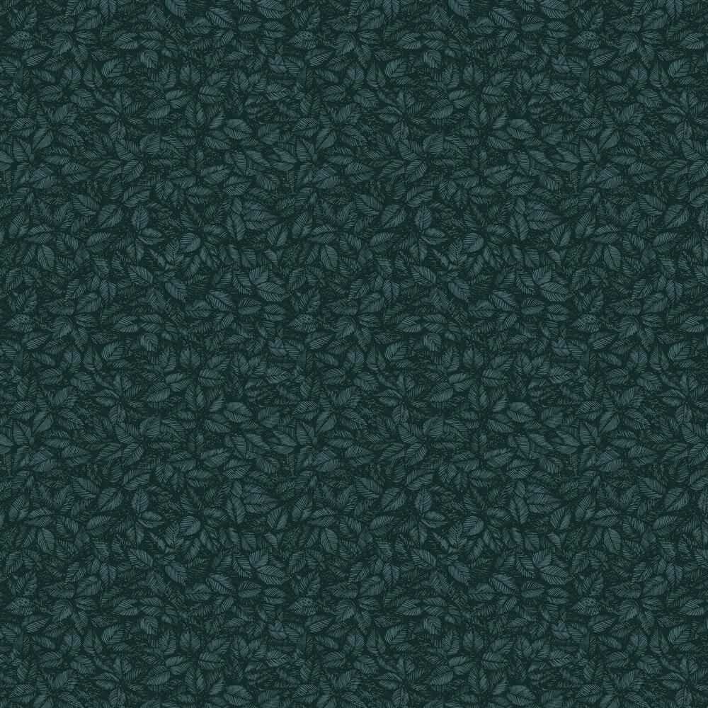 Amorina Wallpaper - Navy and Green - by Boråstapeter