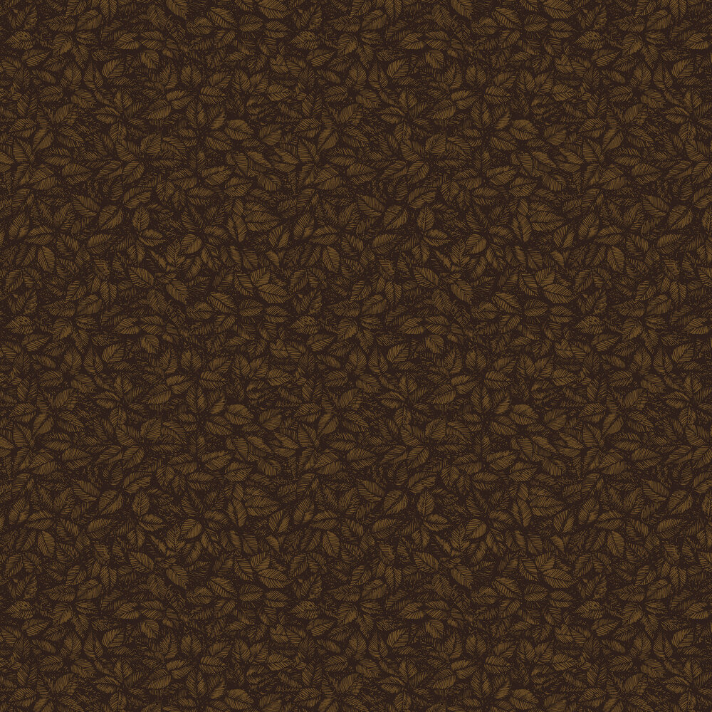 Amorina Wallpaper - Black and Copper - by Boråstapeter