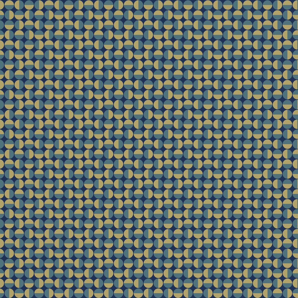 Vertigo Wallpaper - Navy & Teal - by Boråstapeter
