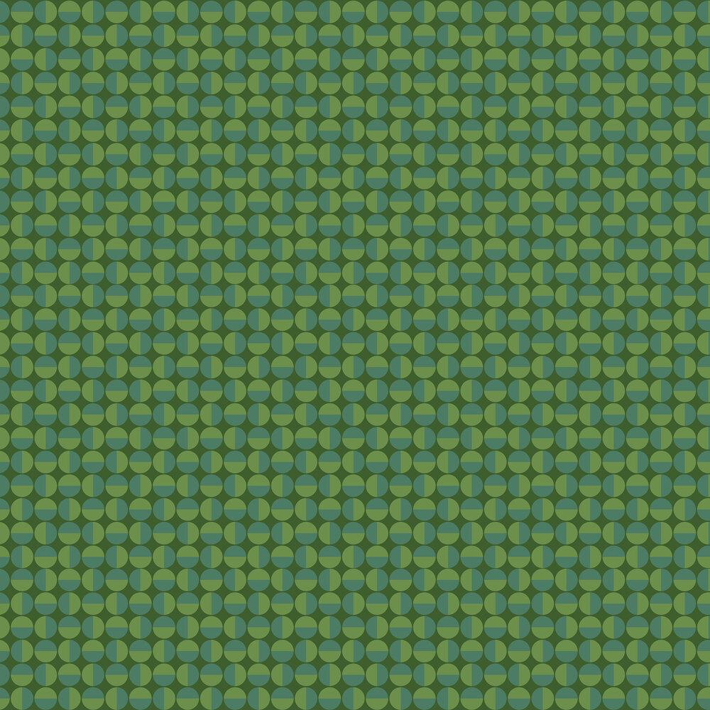 Vertigo Wallpaper - Green - by Boråstapeter