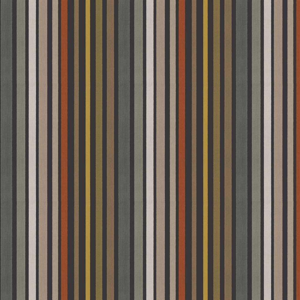 Carousel Stripe Wallpaper - Charcoal - by Cole & Son