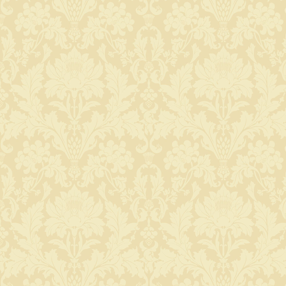 Fonteyn Wallpaper - Vintage Yellow - by Cole & Son