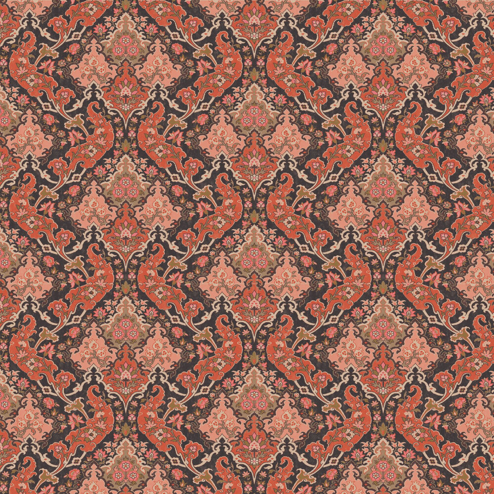 Pushkin Wallpaper - Coral - by Cole & Son