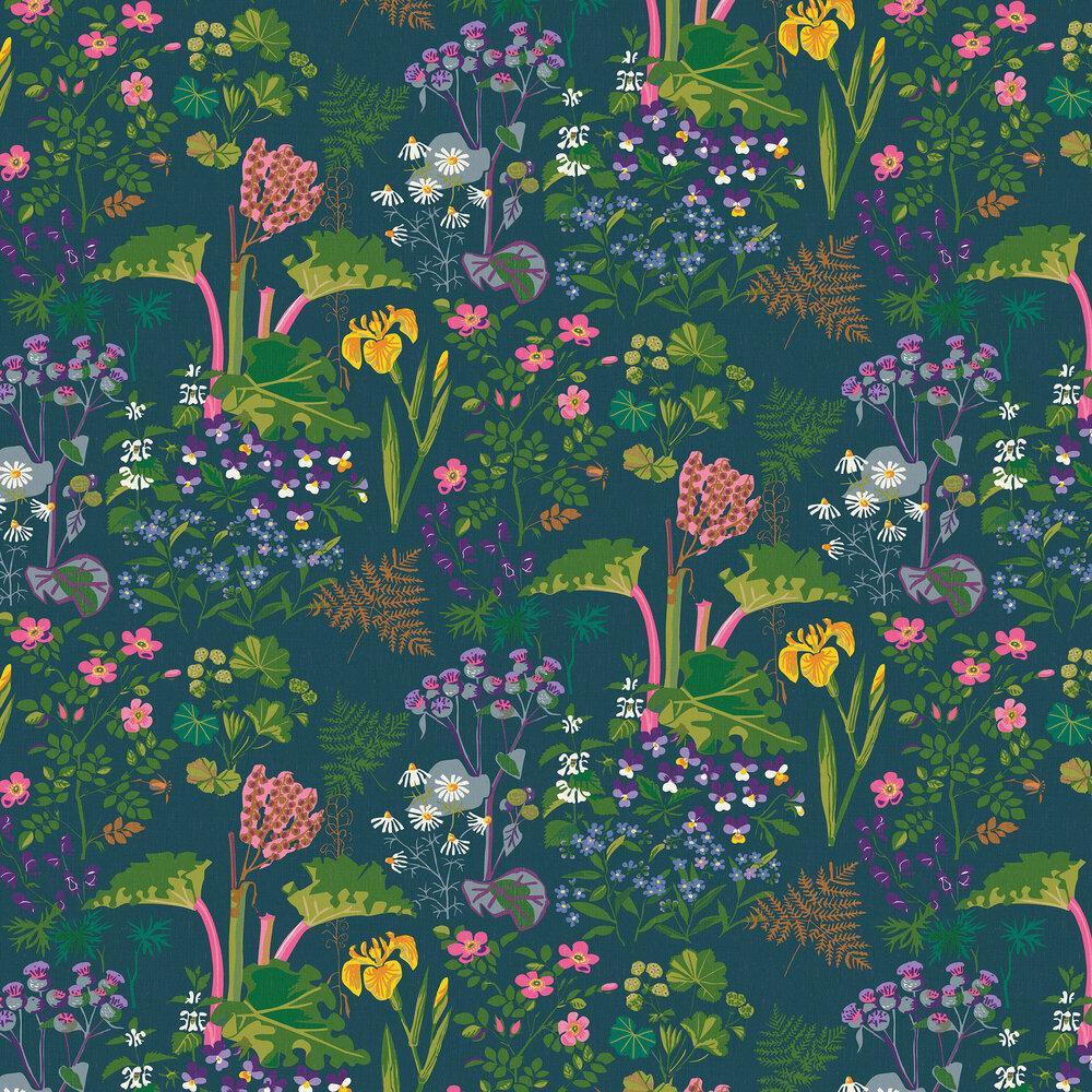 Boråstapeter Rabarber Green Wallpaper - Product code: 1791