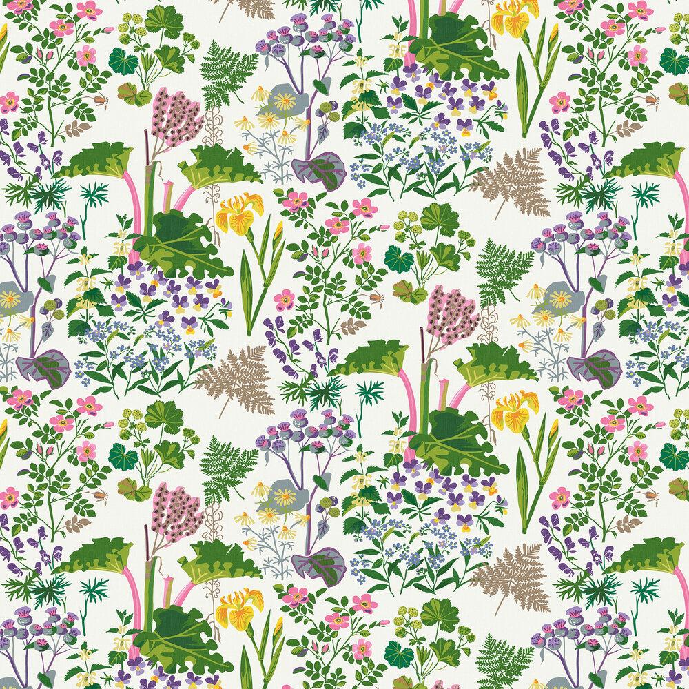 Rabarber Wallpaper - Cream - by Boråstapeter