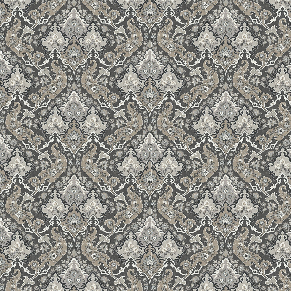 Pushkin Wallpaper - Charcoal - by Cole & Son