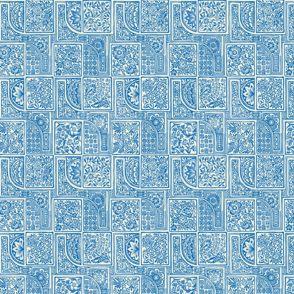 Bellini Wallpaper - Blue - by Cole & Son