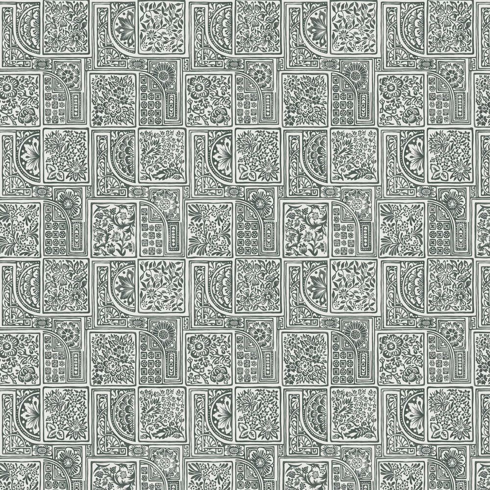 Bellini Wallpaper - Black - by Cole & Son