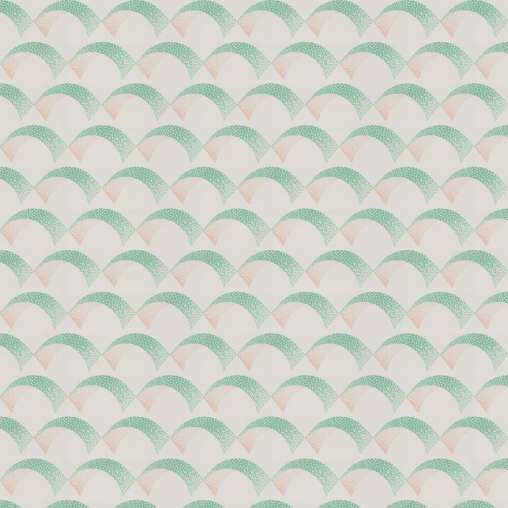 Arcade Wallpaper - Emerald - by Farrow & Ball