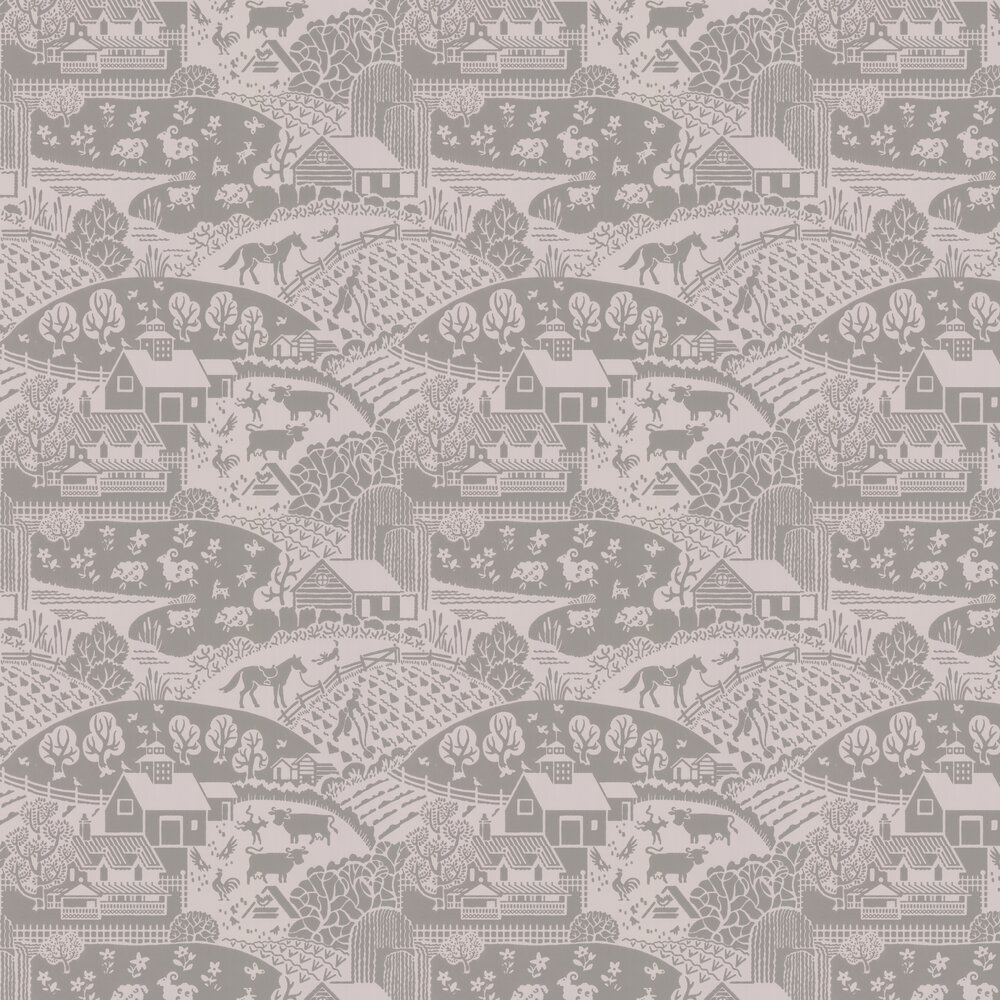 Gable Wallpaper - Mushroom - by Farrow & Ball