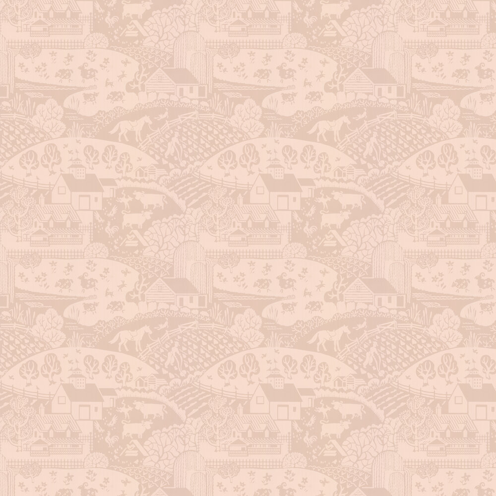 Farrow & Ball Gable Pink Wallpaper - Product code: BP 5406