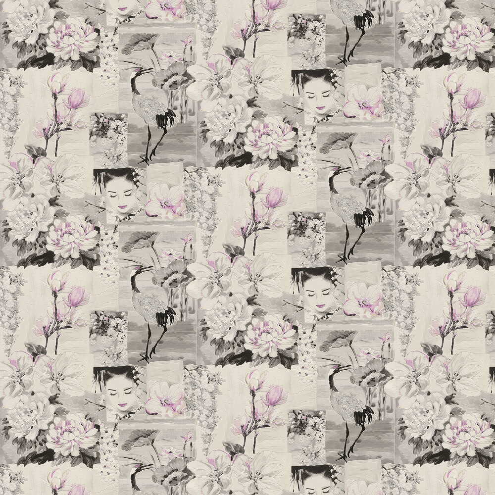 Magnolia Garden Wallpaper - Grey - by Albany