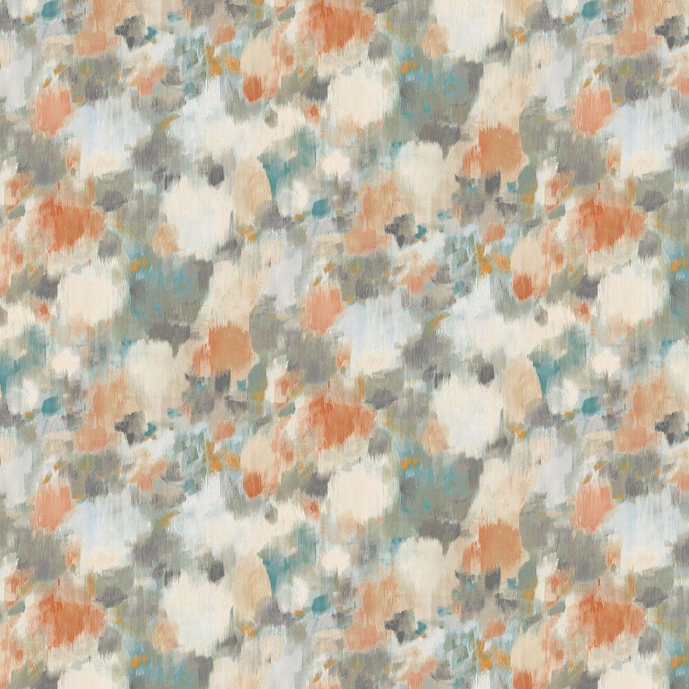 Exuberance Wallpaper - Tangerine / Sepia - by Harlequin
