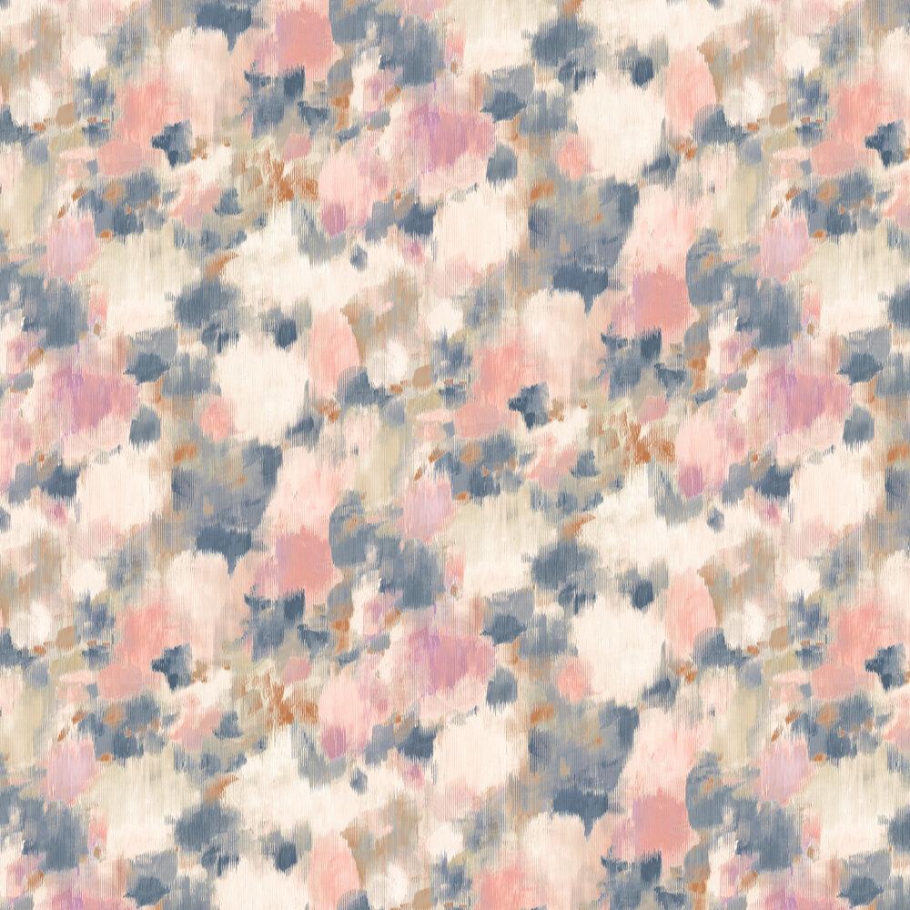Exuberance Wallpaper - Heather / Indigo - by Harlequin