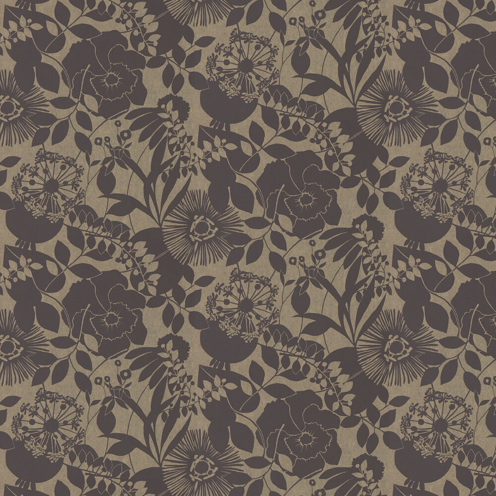 Coquette Wallpaper - Ebony - by Harlequin