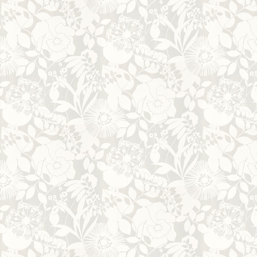 Coquette Wallpaper - Chalk - by Harlequin