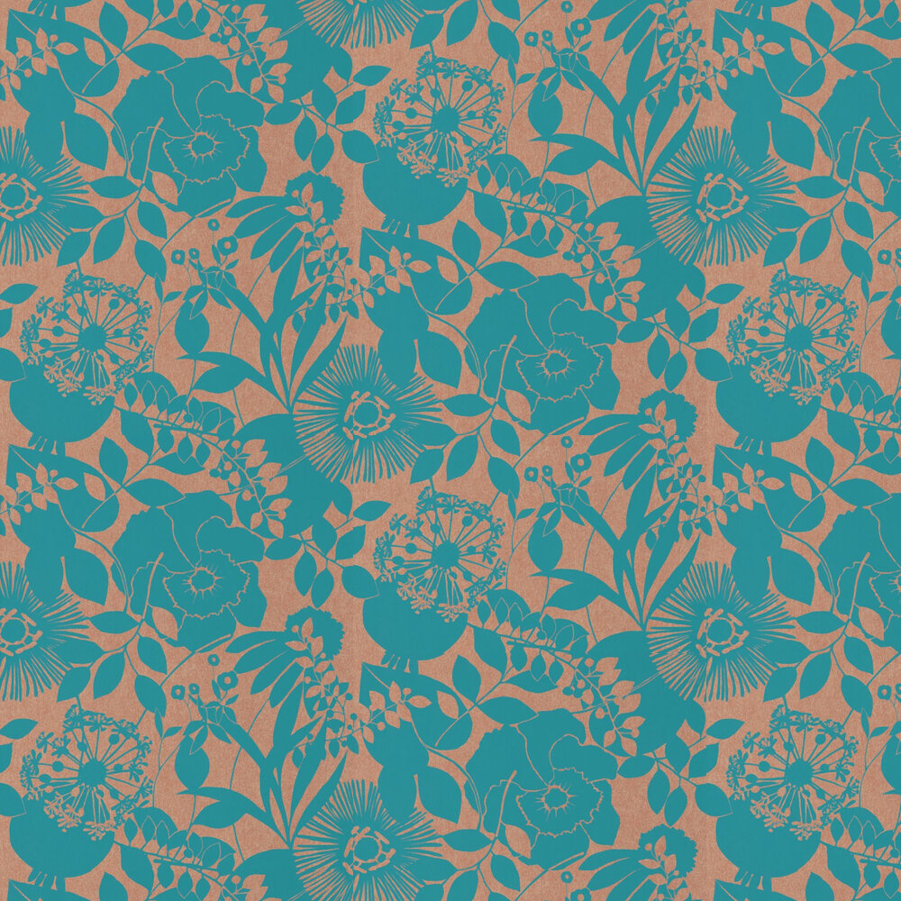 Coquette Wallpaper - Turquoise  - by Harlequin
