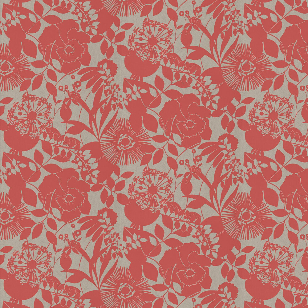 Coquette Wallpaper - Coral - by Harlequin