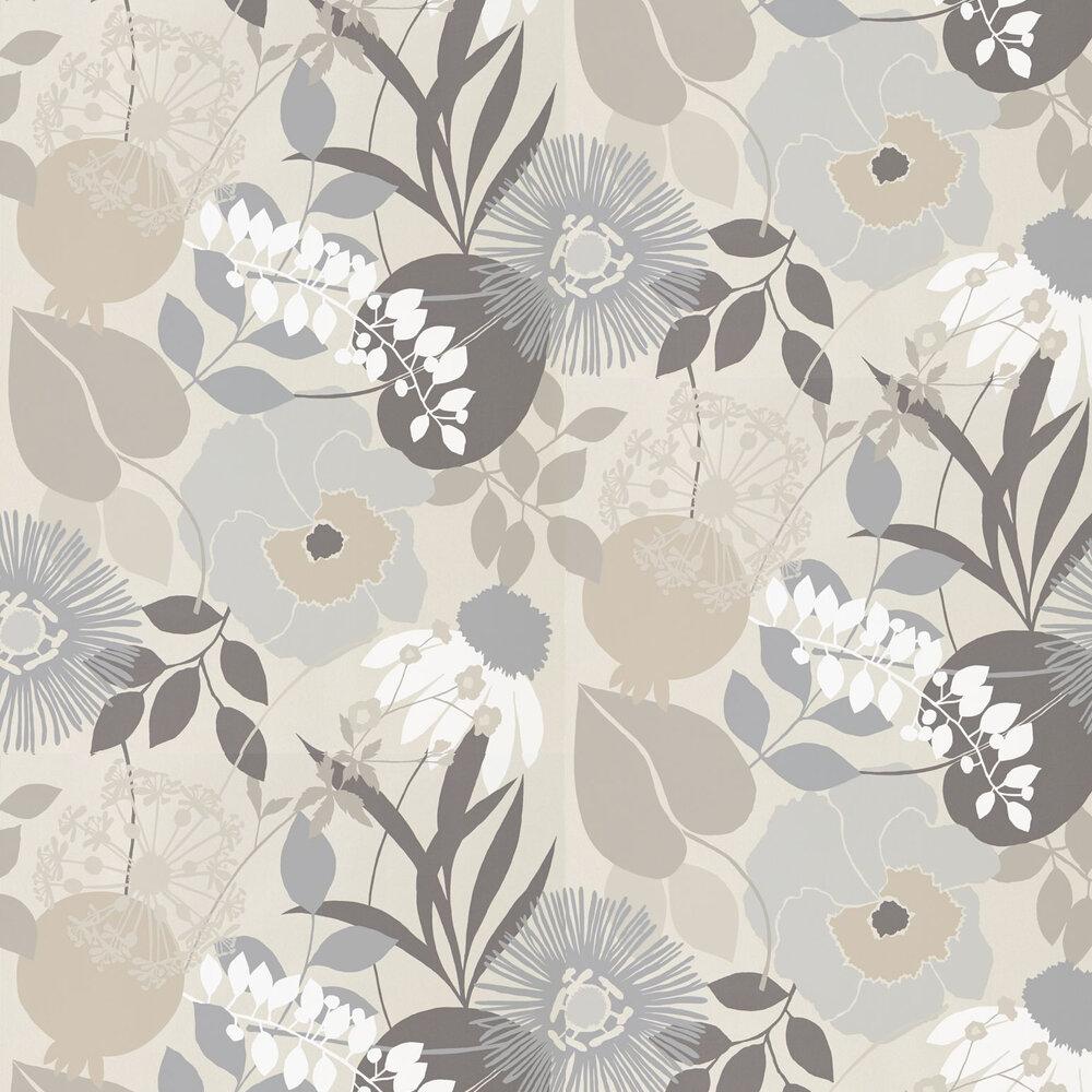Doyenne Wallpaper - Mist / Linen / Hessian - by Harlequin